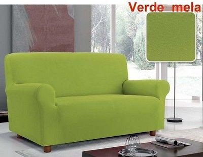 Copridivano bielastico tre posti verde mela copri divano - Copridivano tre posti elasticizzato ...