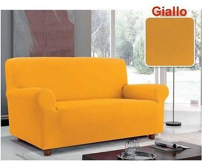 Copridivano bielastico due posti giallo copri divano due - Copridivano due posti ikea ...