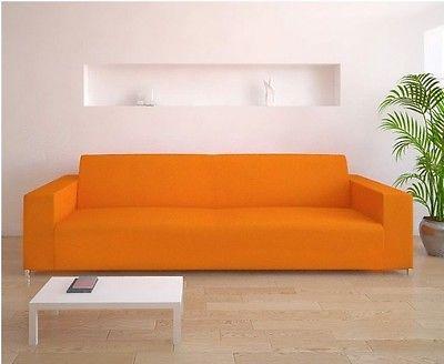 Copridivano bielastico tre posti arancione copri divano ebay - Divano arancione ...