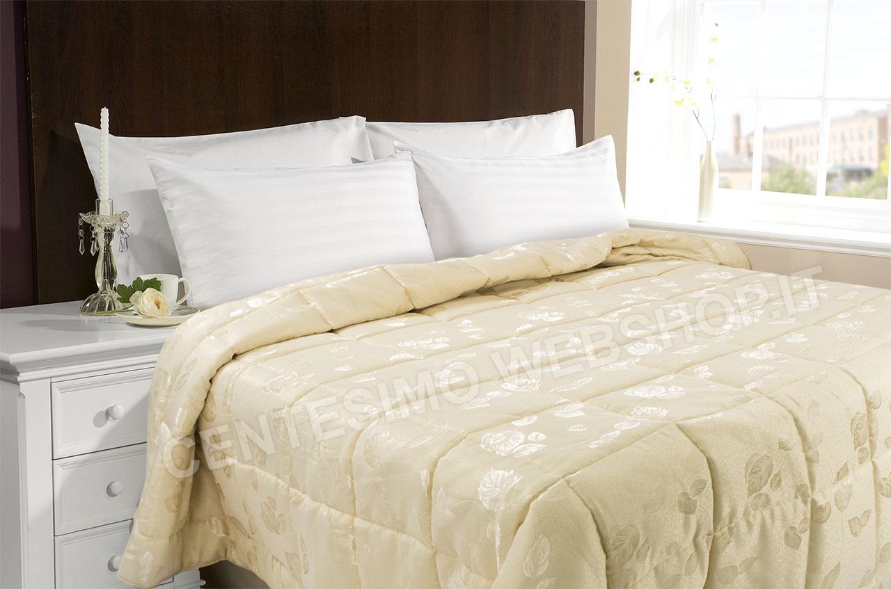 Trapunta invernale jacquard matrimoniale panna beige oro for Trapunte matrimoniali invernali bassetti