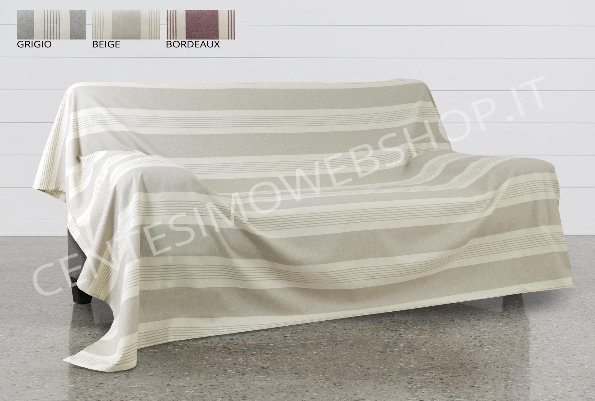 Telo arredo copritutto jacquard multiuso gran foulard copridivano righe rigato ebay - Gran foulard divano ...