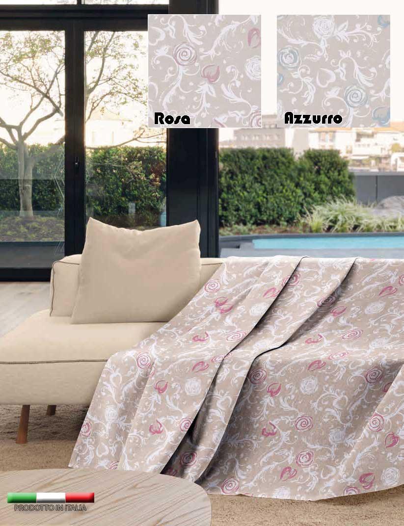 Telo arredo copritutto jacquard multiuso gran foulard copridivano fiori rosa azz ebay - Gran foulard divano ...