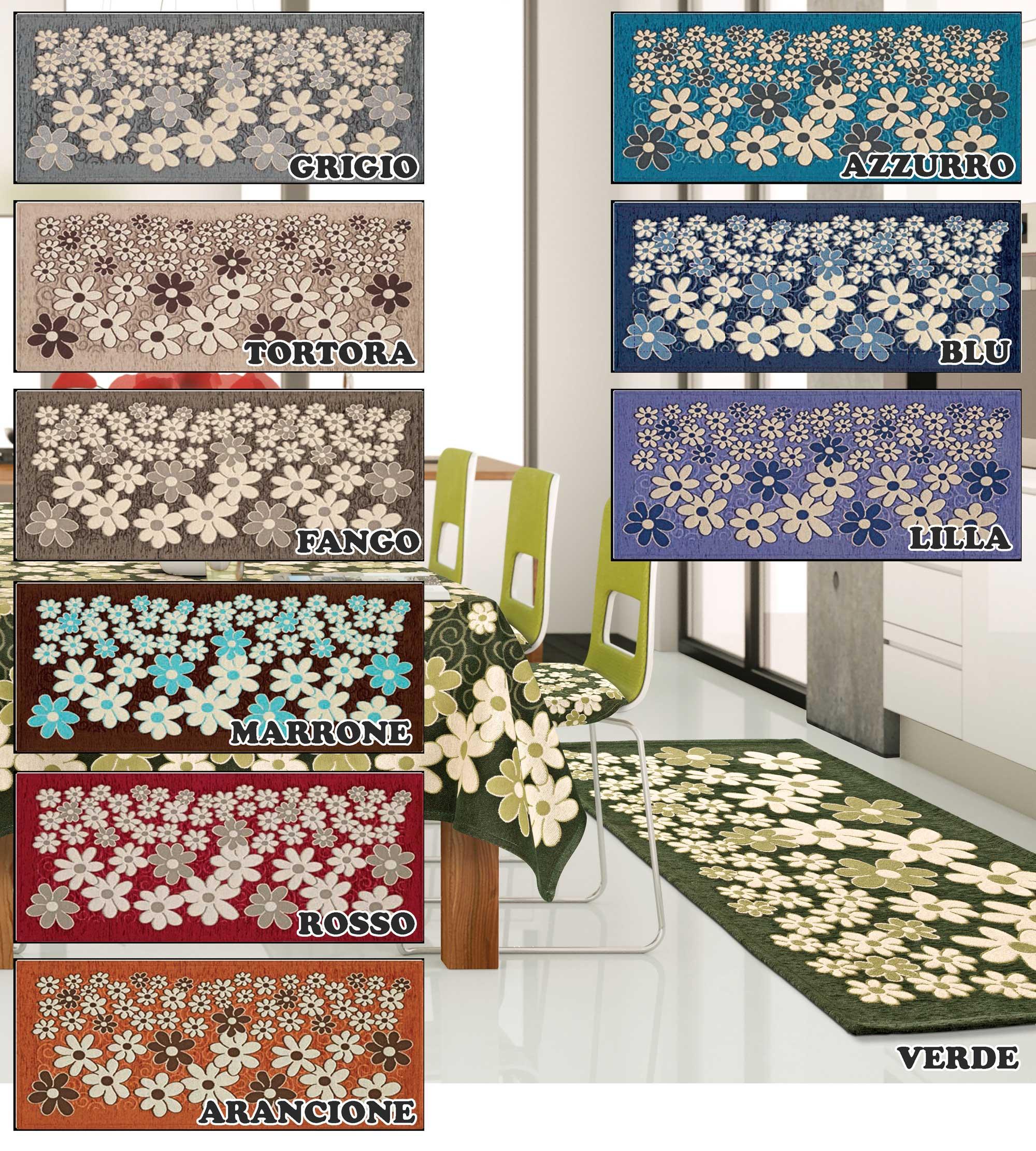 Tappeto cucina in 6 misure 6 colori passatoia tappetino - Tappetino cucina ...