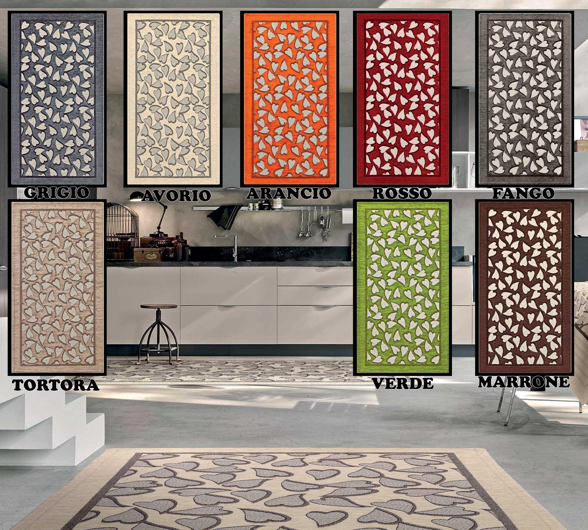 Tappeto cucina in 6 misure 8 colori passatoia tappetino - Tappetino cucina ...