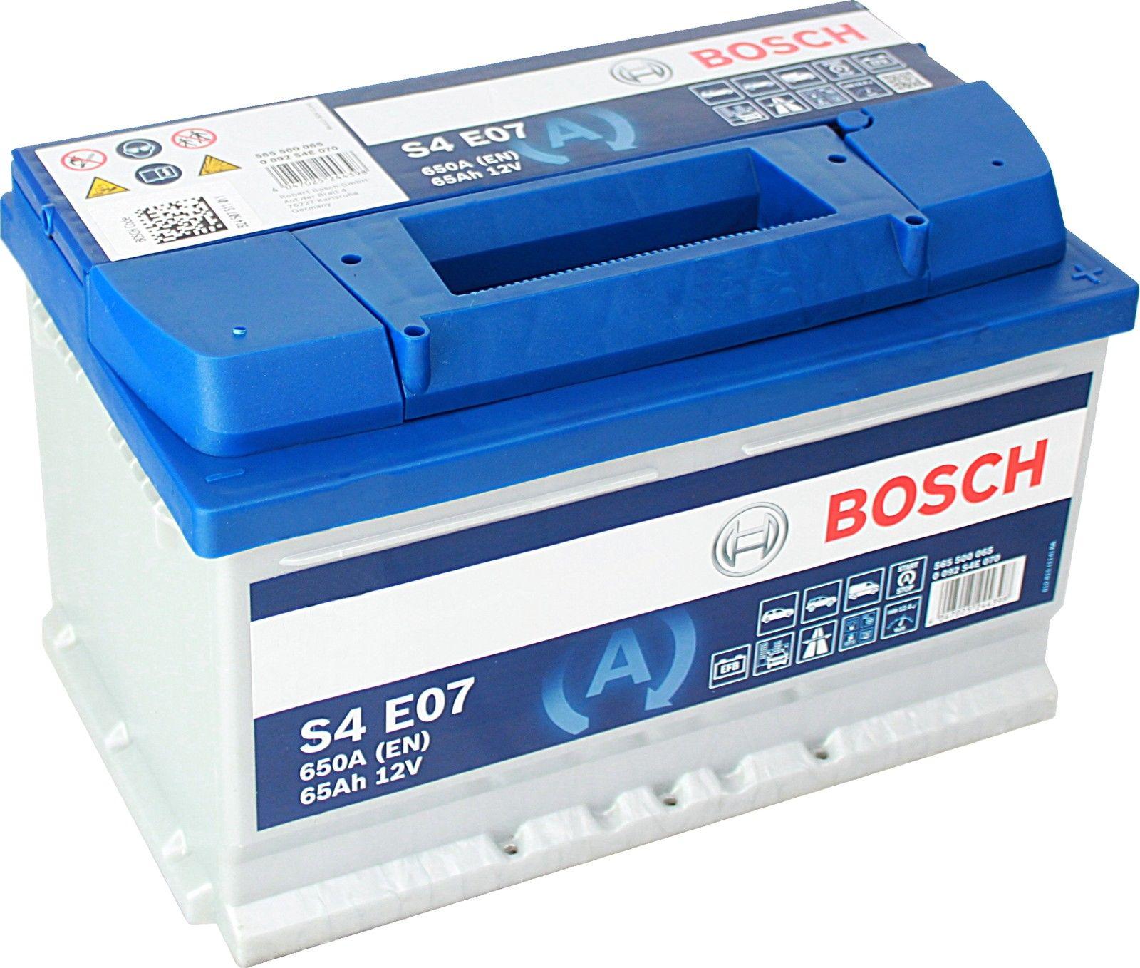 0092s4e070 batteria auto bosch s4 e07 en 650a 65 ah 12v. Black Bedroom Furniture Sets. Home Design Ideas