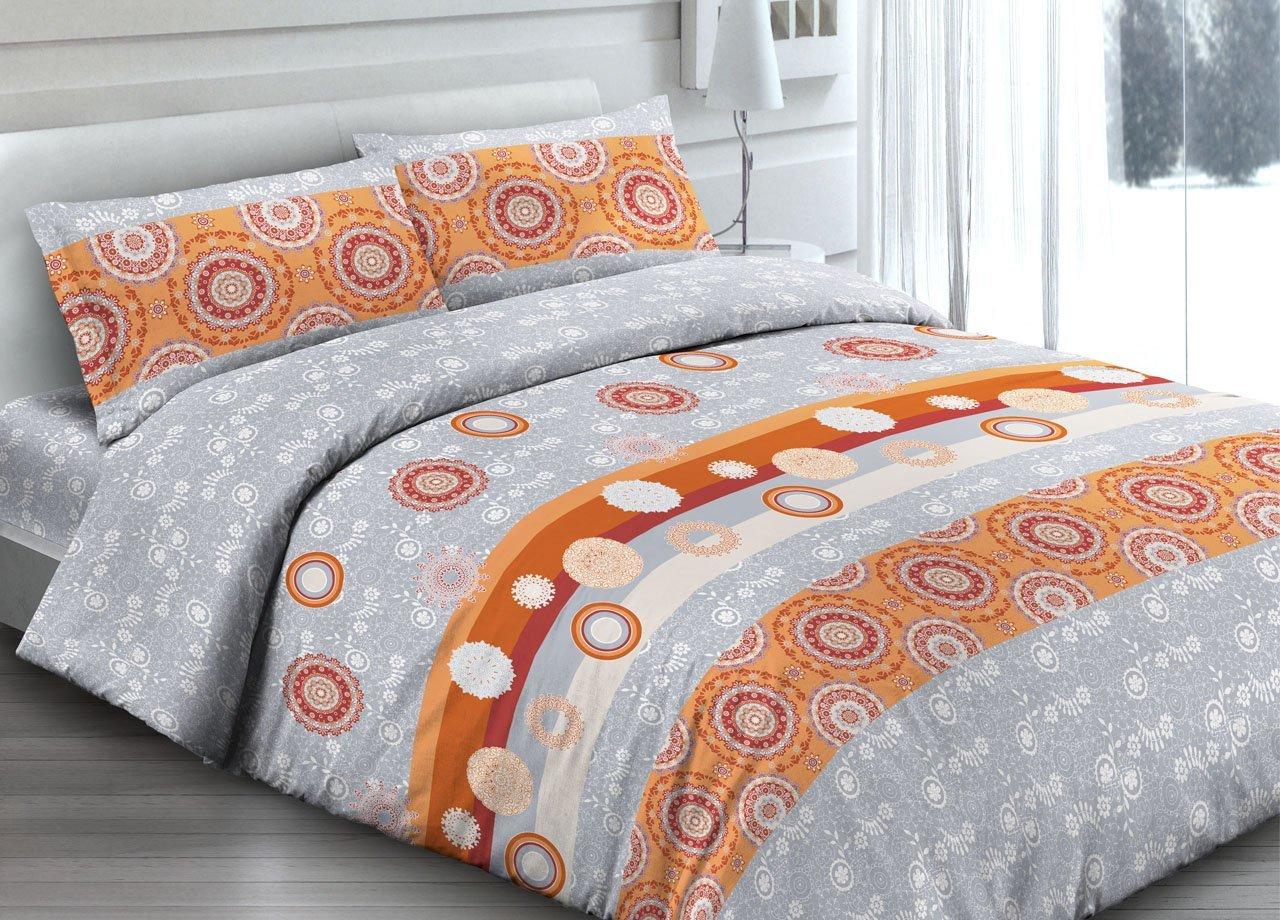 Copripiumino matrimoniale arancio grigio set letto piumino stile desigual - Set letto matrimoniale ...