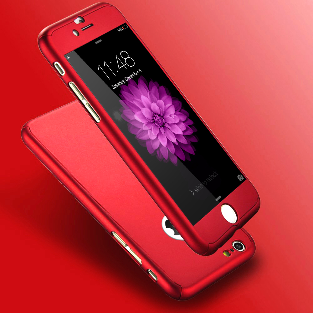 Cover custodia fronte retro 360 per apple iphone 5 se 6 7 - Cover con finestra ...