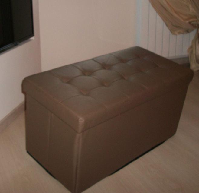 Pouff pouf storage contenitore vari colori cm 80x40x41h for Puff arredo
