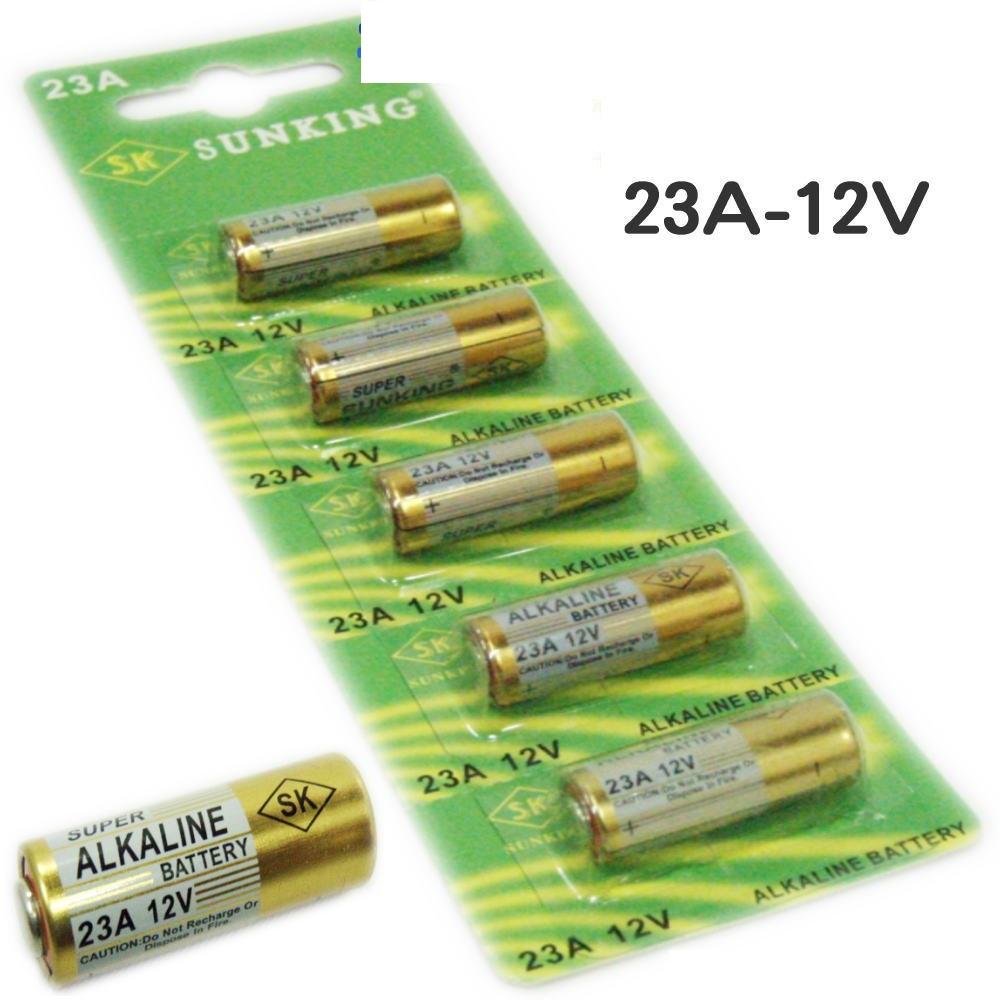 5 x pile batterie alkaline 23a 12v pila batteria alcalina cancello telecomando ebay. Black Bedroom Furniture Sets. Home Design Ideas