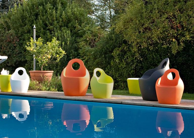 Poltrona bub design esterno arredo illuminazione giardino for Illuminazione d arredo