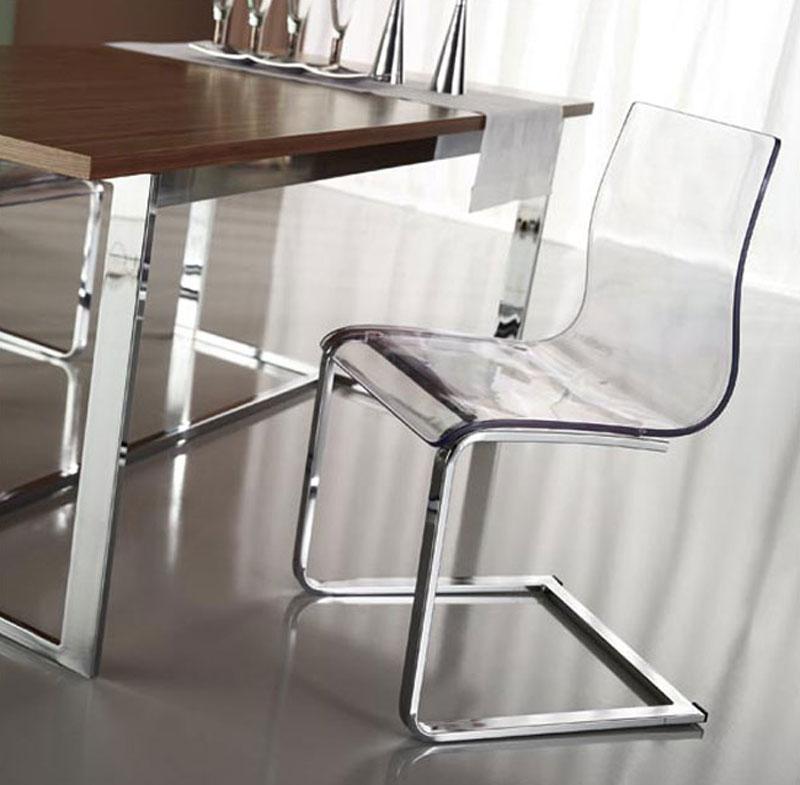 4 sedie leg slitta vari colori design nuove trasparente - Sedia trasparente ikea ...
