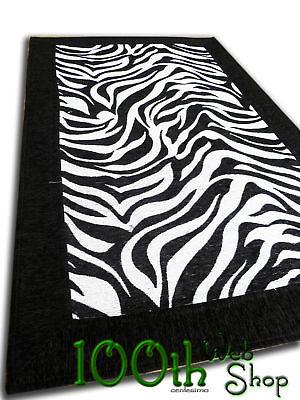 Tappeto moderno zebra zebrato bianco 60 x 180 cucina bagno for Coprisedia bianco ikea