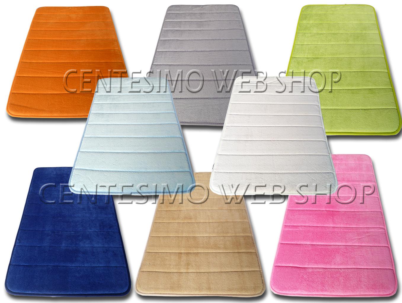 Tappeto bagno memory novita misure colori blu rosa beige