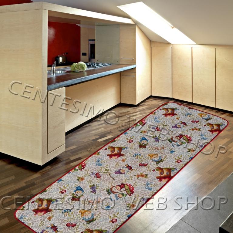 Tappeto 7 misure passatoia cucina antiscivolo grigio chiaro gnomi 40 190 240 290 ebay - Passatoia cucina antiscivolo ...