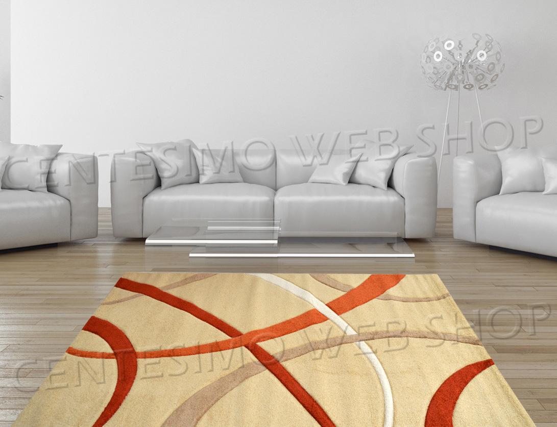 Tappeti Soggiorno Moderno : Tappeto moderno misure arredo panna beige arancio camera ufficio