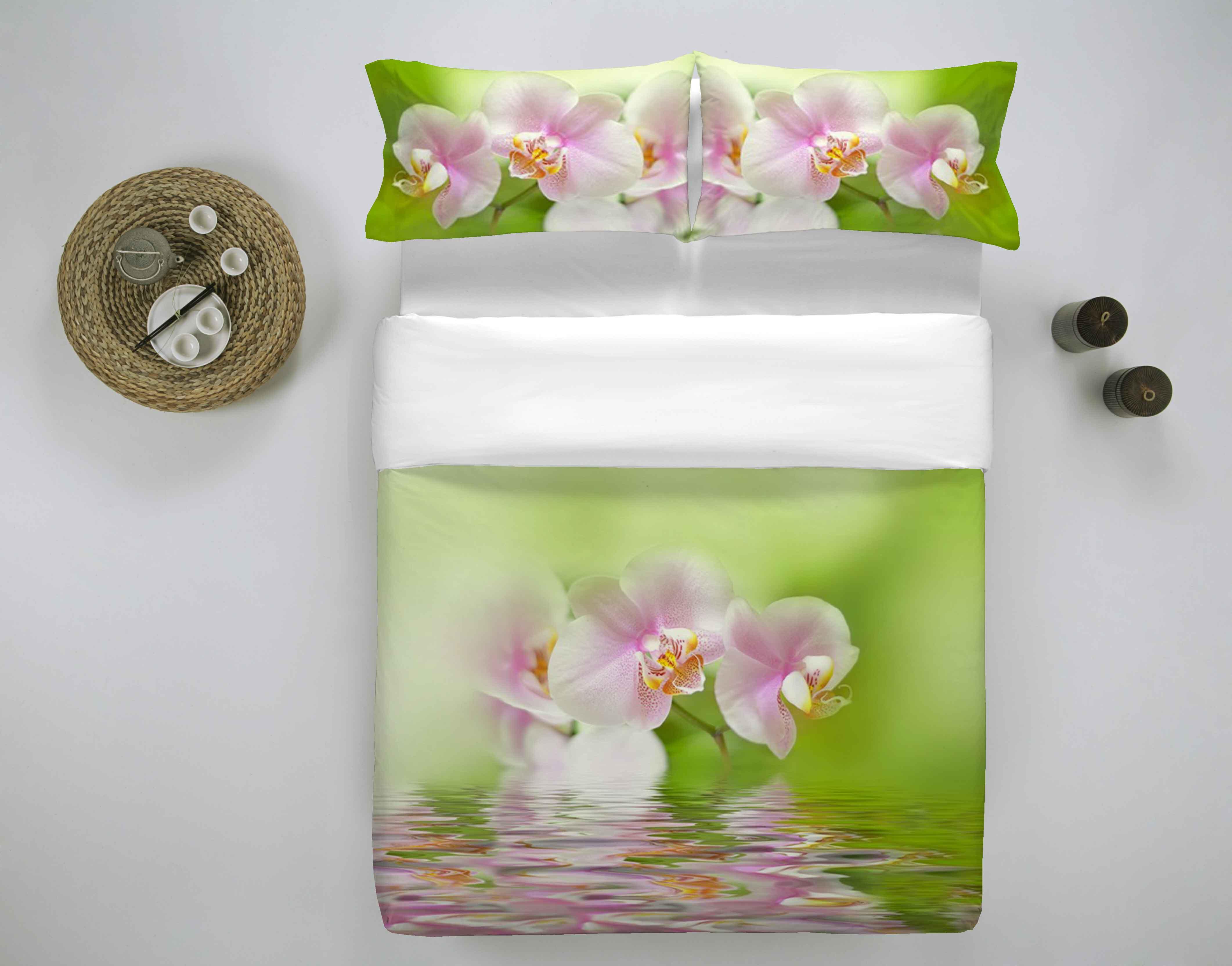 Copripiumino Orchidea.Copripiumino In 2 Misure Maxi Stampa Prodotto Italia Fantasia