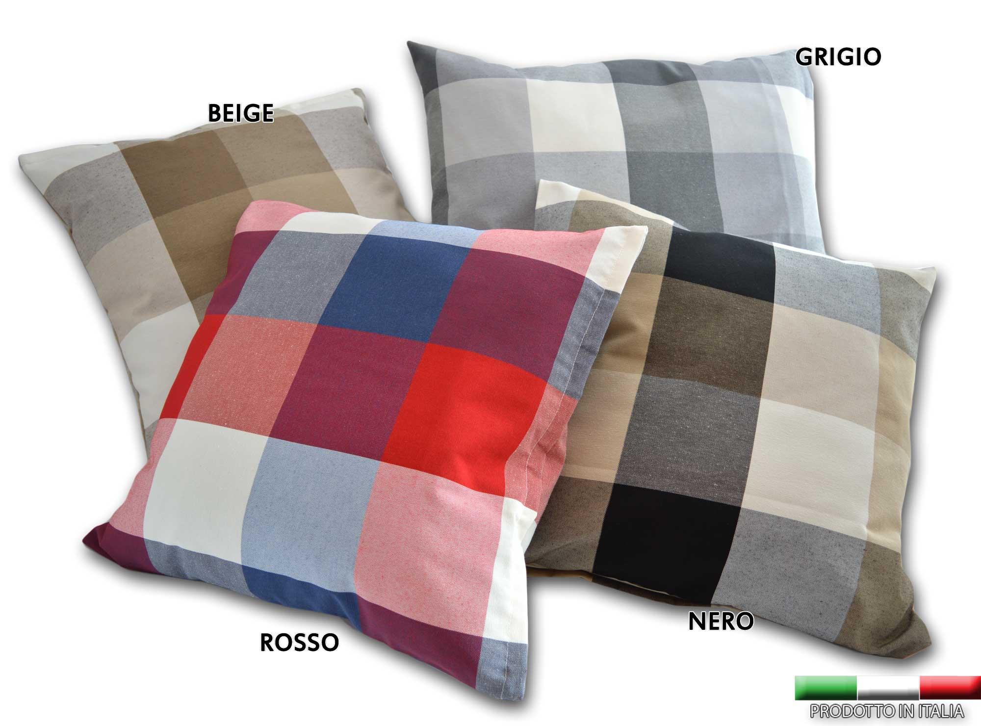 Cuscini A Quadri.Cuscino Arredo 3 Misure Prodotto In Italia 40x40 50x50 60x60