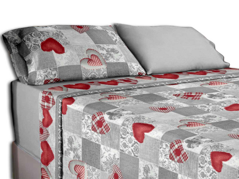 Stoffa Di Flanella Per Lenzuola dettagli su completo lenzuola letto flanella in 2 misure caldo cotone cuori  cuoricini cuore