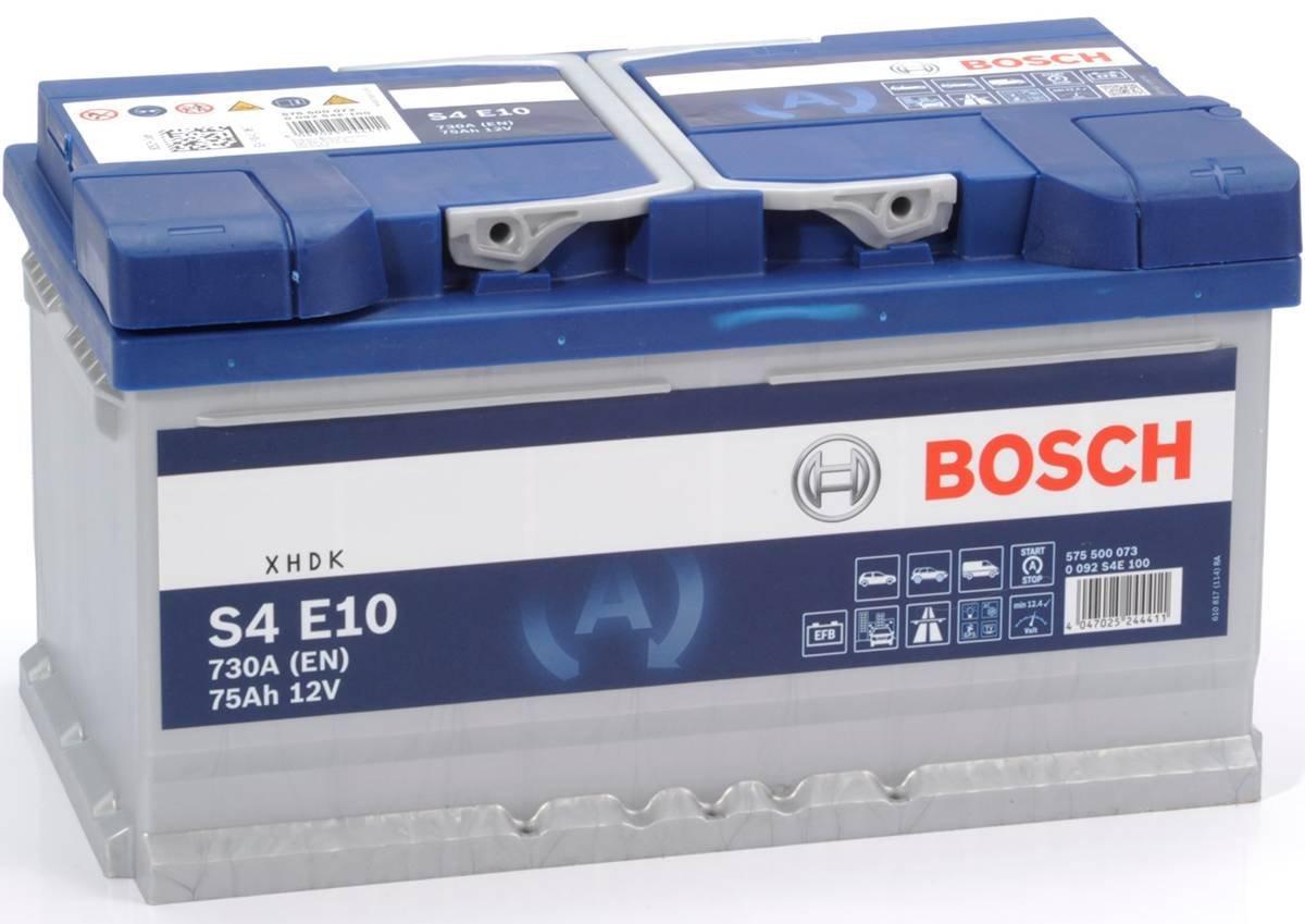0092s4e100 car battery bosch s4 e10 730 An en 75 AH 12v Start