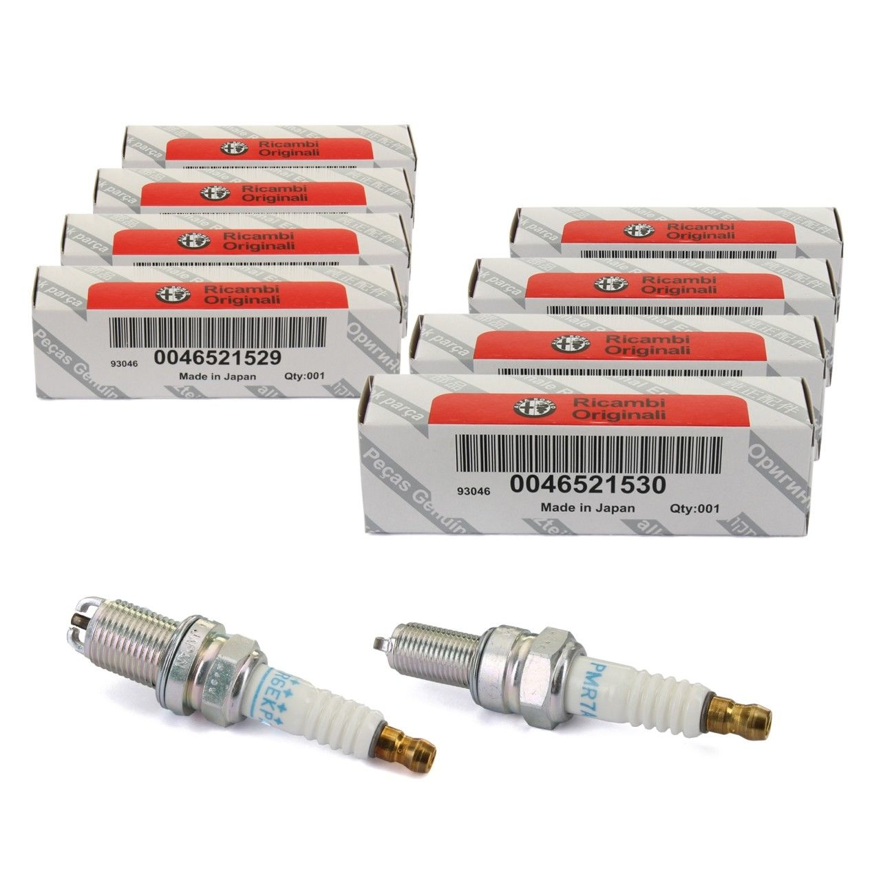 Kit 8 Candele NGK Originali ALFA ROMEO 147 1.6 1600 16V