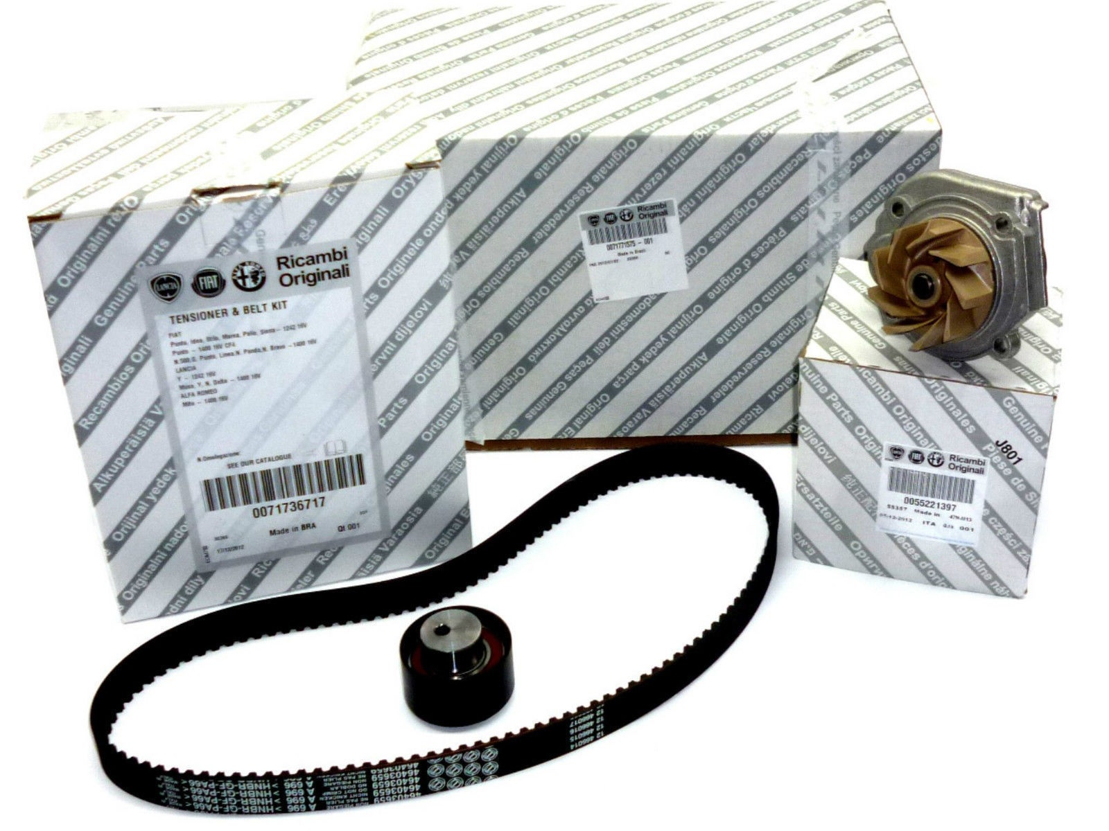kit distribuzione pompa acqua originale fiat 500 bravo. Black Bedroom Furniture Sets. Home Design Ideas