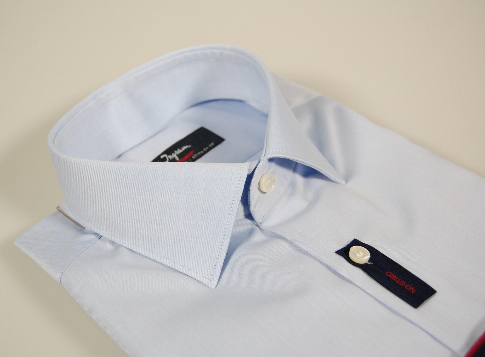 Camicia Moda Uomo Ingram Slim Fit Bianca Cotone No Stiro Cottonstir Taglia 38 S