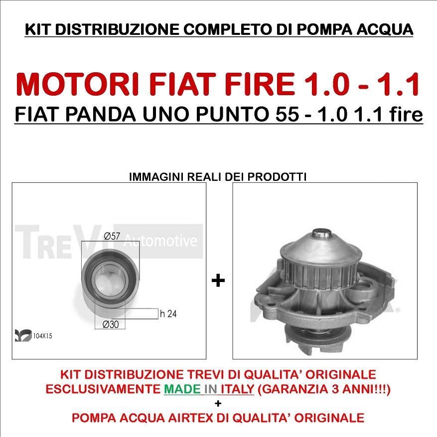 Kit distribuzione pompa acqua  FIAT PANDA UNO PUNTO 55 LANCIA Y 1.0 1.1 fire