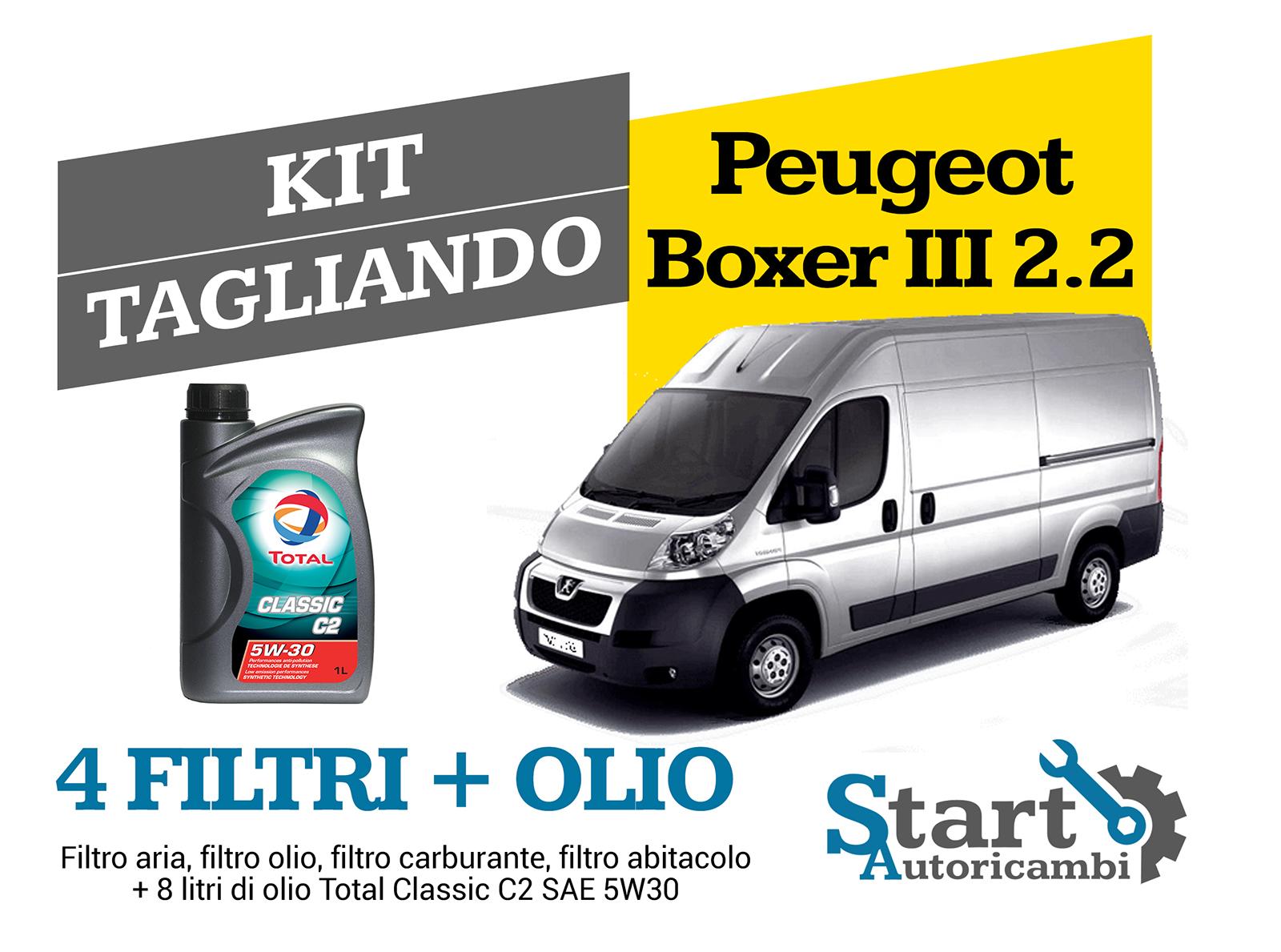 OLIO BOXER III 3.0 HDi 115KW 157CV DAL 2012 KIT TAGLIANDO FILTRI