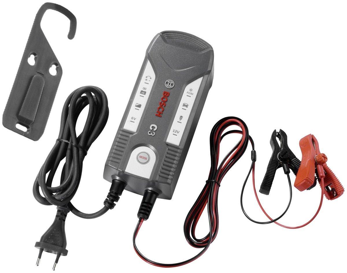 Bosch c3 6 12v mantenitore di carica caricabatterie auto for Caricabatterie auto moto lidl