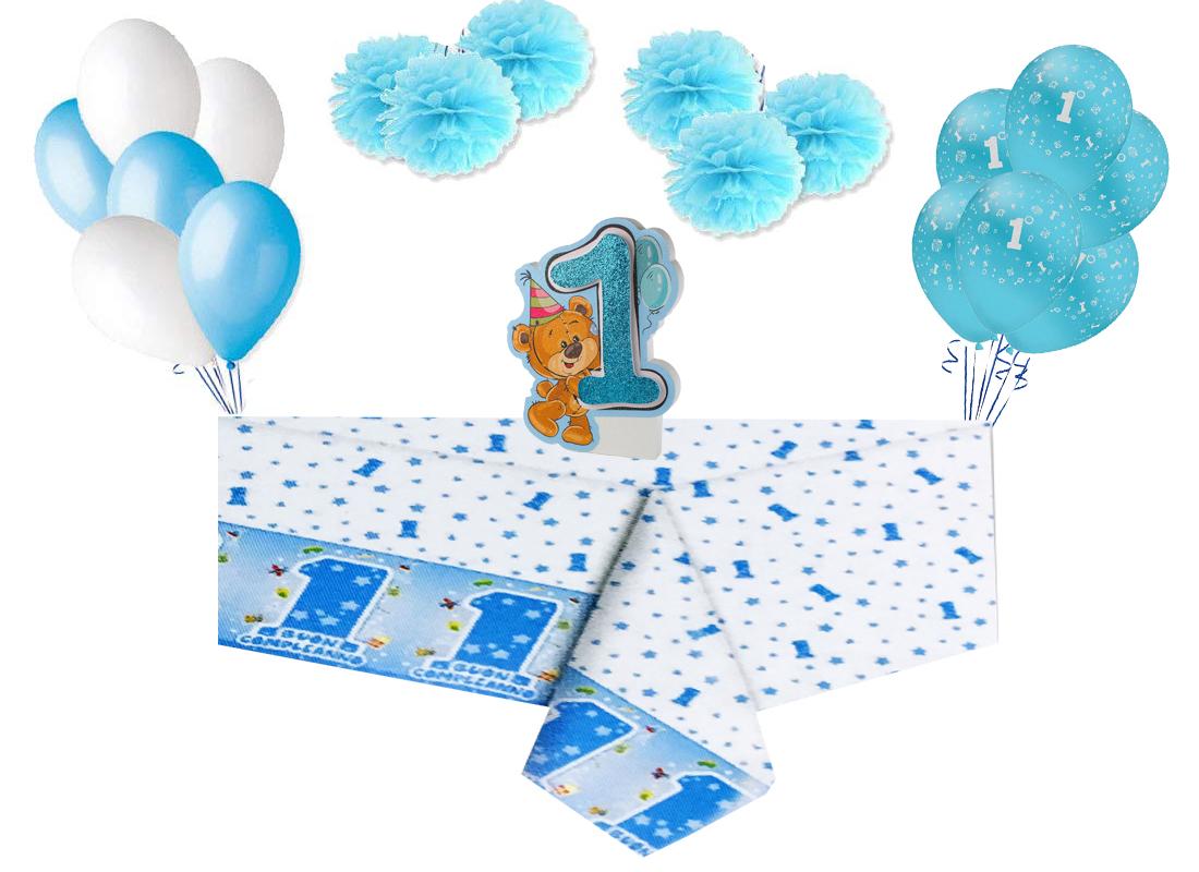 Dettagli Su Set Addobbi Primo Compleanno 1 Anno Fai Da Te Decorazioni Palloncini