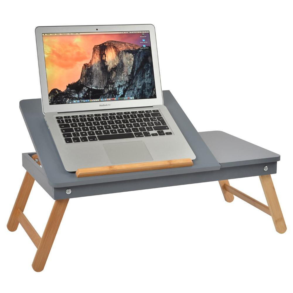 Tavolino notebook vassoio in legno per pc tavolo pieghevole letto computer ipad ebay - Porta pc da letto ...