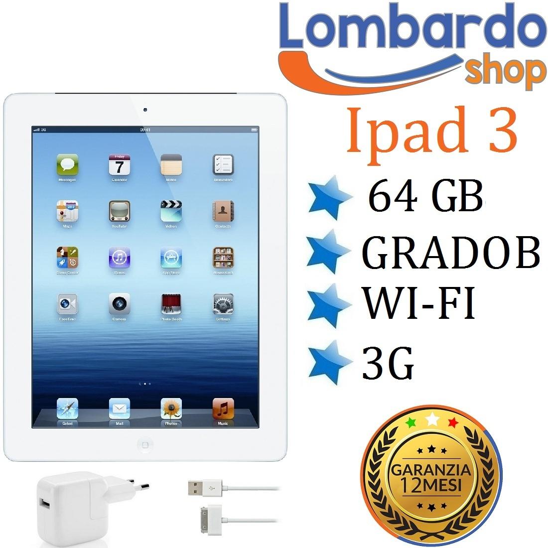 apple ipad 3 64 go wifi 3g sim degr b blanc r g n r. Black Bedroom Furniture Sets. Home Design Ideas