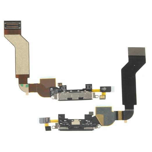 Original Flat Flex Dock Usb Connettore Nero Dati Ricarica Microfono Ricambio Iphone 4s Cell Phone & Smartphone Parts