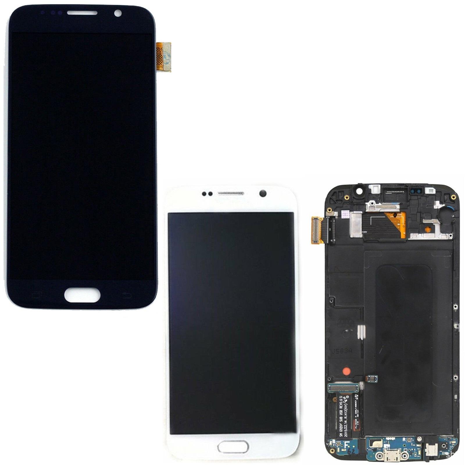 365da6e7346 Pantalla LCD Pantalla Táctil con Marco para Samsung Galaxy S6 G920F ...
