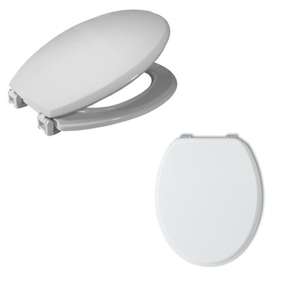 Details About Toilet Seat Cover White Wooden Bathroom Toilet Water Board Universal