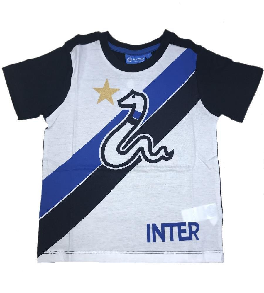 T SHIRT MANICA CORTA I018 DA BAMBINO INTER F.C.