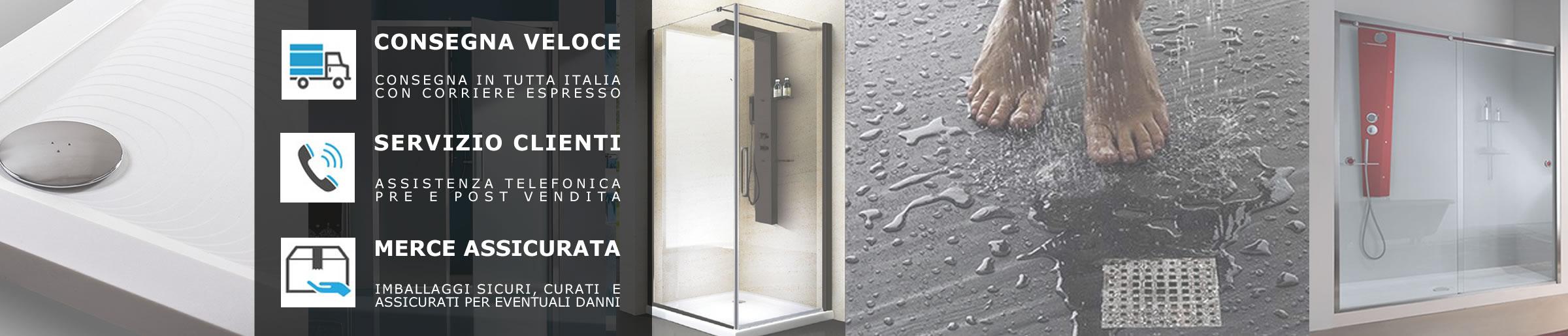 Box doccia porte scorrevoli bagno in vetro cristallo 6 mm opaco per ...