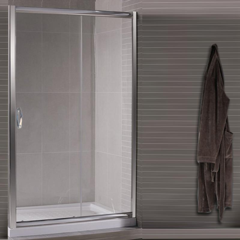 Box doccia nicchia porta scorrevole da 95 a 160 vetro - Porta doccia vetro ...
