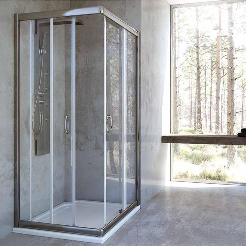 Box doccia 2 lati angolare porte scorrevole in cristallo 6 for Finestra 70x100
