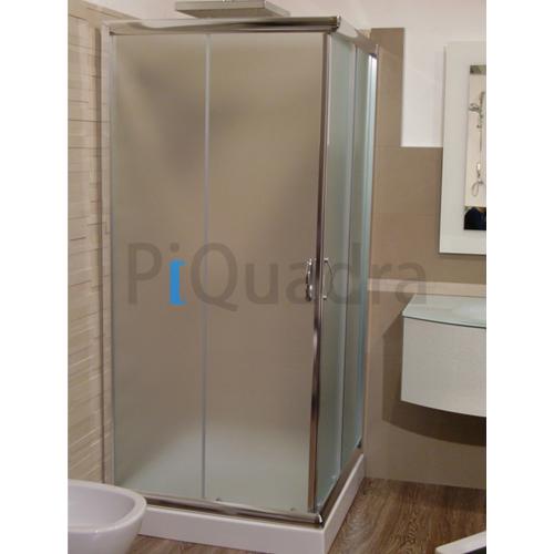 Box doccia porte scorrevoli bagno in vetro cristallo 6 mm opaco per piatto 70x85 ebay - Piatto doccia 70x85 ...