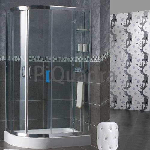 Box doccia semicircolare 70x90 90x70 scorrevole vetro curvo in ...