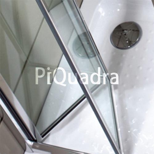 Box doccia cristallo in 5 mm porta a libro soffietto - Porta doccia pieghevole ...