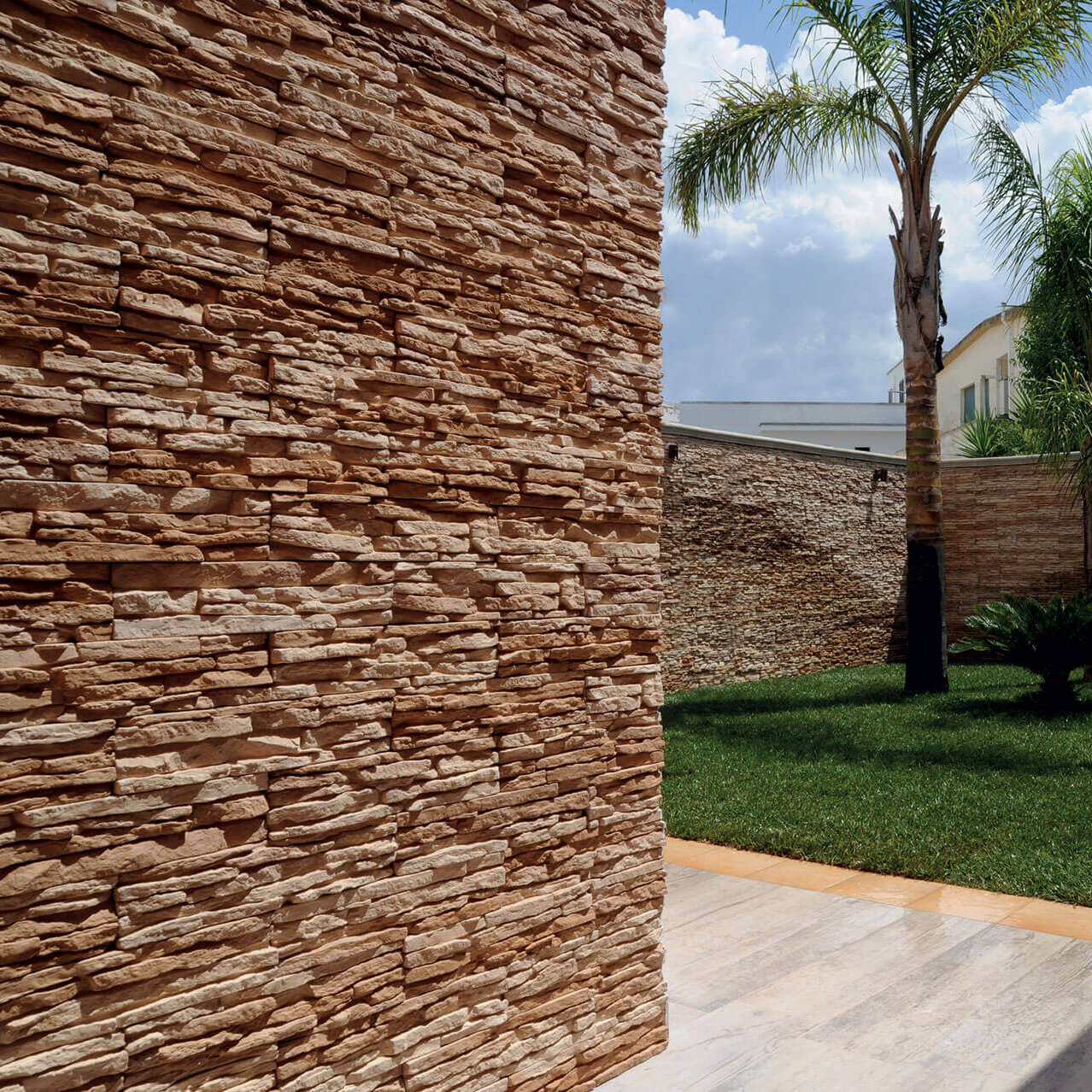 Rivestimento interno esterno in pietra ricostruita primiceri lastre da 10x45 cm ebay - Rivestimento interno in pietra ...
