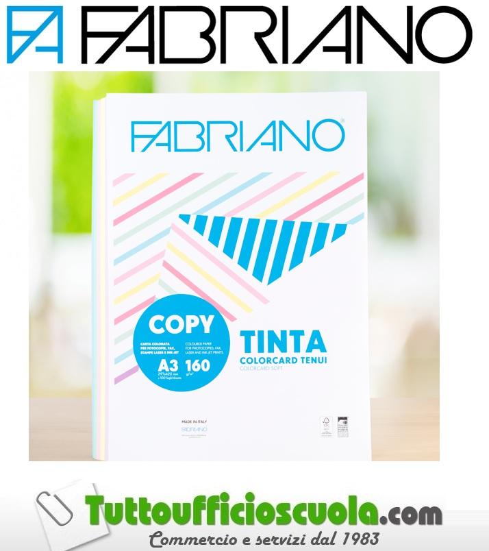 COPY TINTA COLORCARD  A4 100 fogli 160 gr TENUI FABRIANO STAMPA FOGLI RISMA