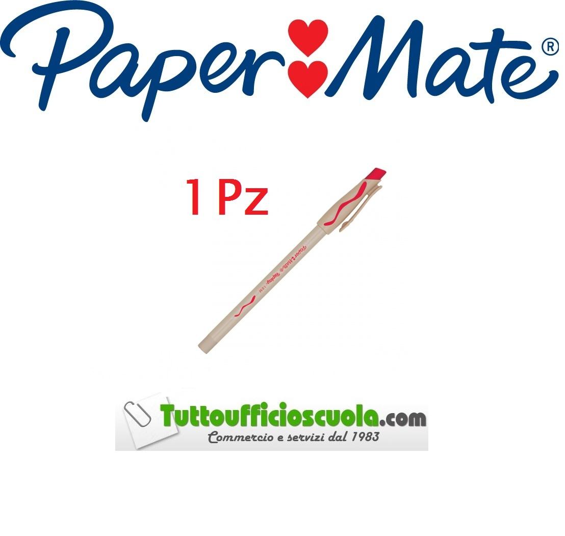 12 pz ROSSO cancell penna Penne a sfera cancellabili PAPER MATE REPLAY conf