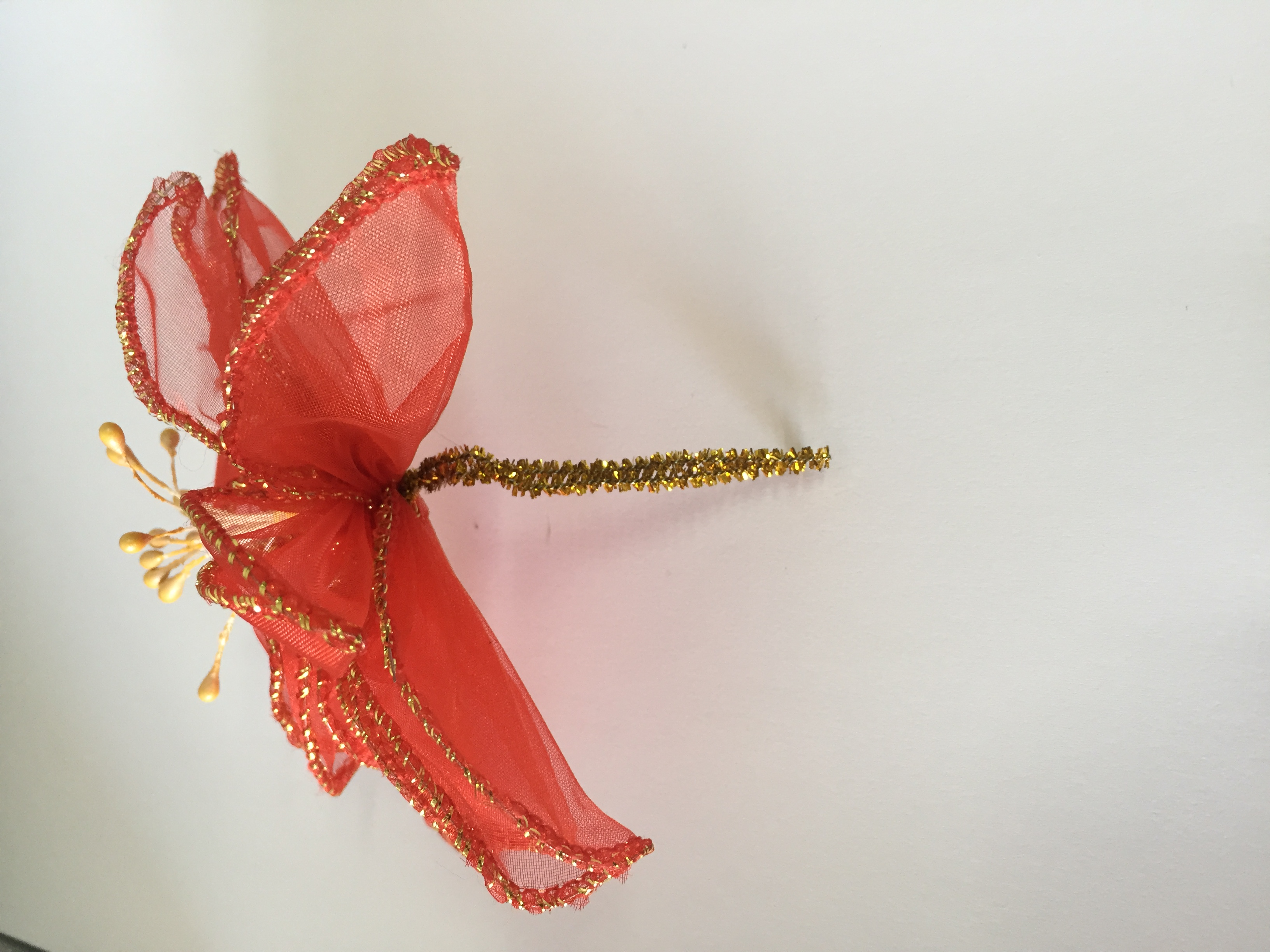Stella Di Natale In Stoffa.Fiori In Stoffa Per Natale Addobbi Decorazione Natalizia Albero