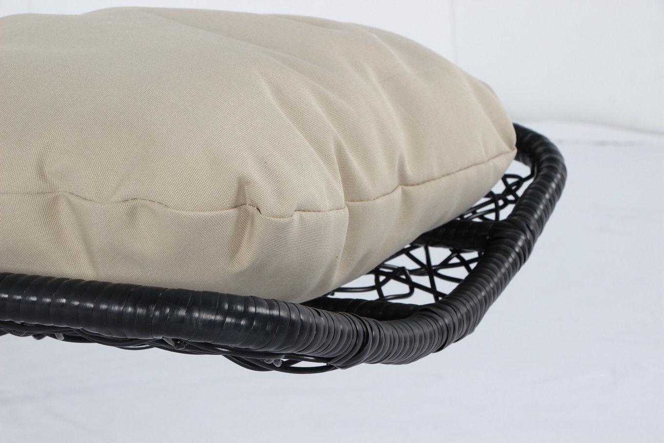 Sedia a dondolo sospesa in rattan per interno e esterno con cuscino cloe ebay - Cuscino per sedia a dondolo ...