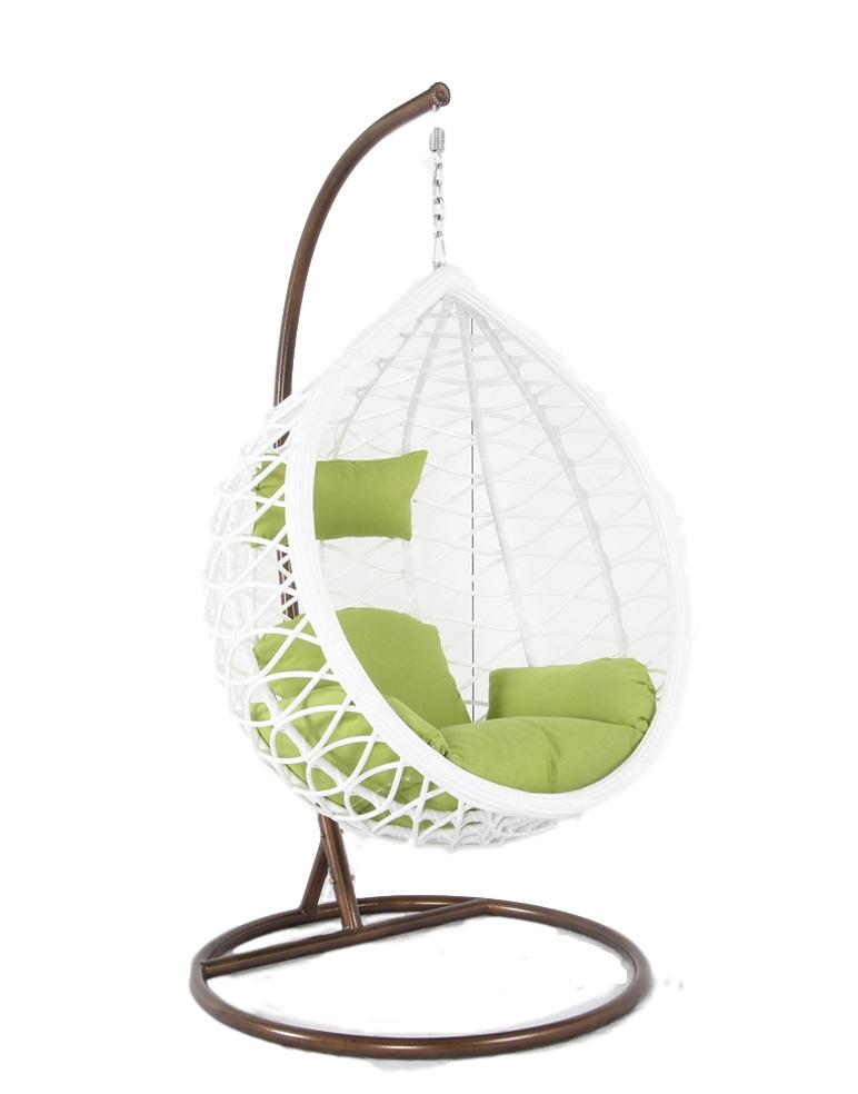Sedia a dondolo sospesa in rattan per interno e esterno con cuscino maya ebay - Cuscino per sedia a dondolo ...